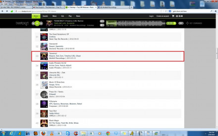 TESSERACT AT # 33 ON BEATPORT DUBSTEP CHARTS