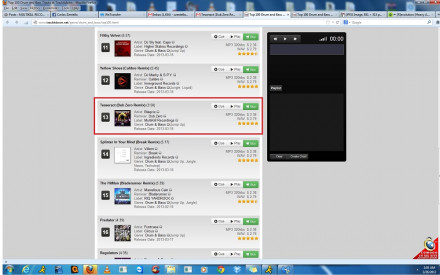 DUBZERO REMIX OF TESSERACT AT #3 ON TRACKITDOWN.NET CHARTS