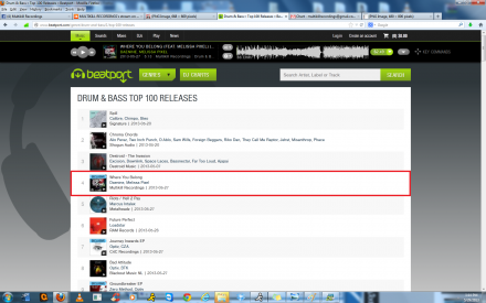 """WHERE YOU BELONG"" #4 ON BOTH BEATPORTS DUBSTEP AND DRUM AND BASS CHARTS"