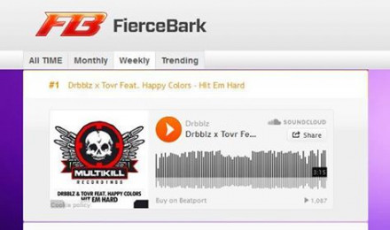 Trending at Number 1 on the www.fiercebark.com