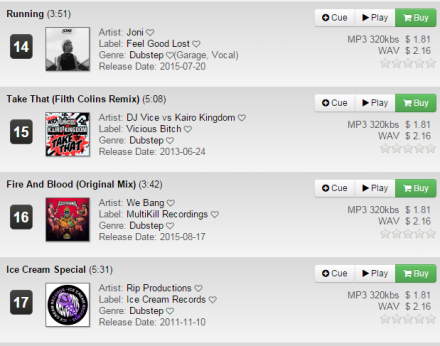 "We Bang's ""Fire And Blood"" #16 in Trackitdown 's Dubstep charts !! WOOO !!!"